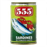 555 Canned Sardines in Tomato Sauce