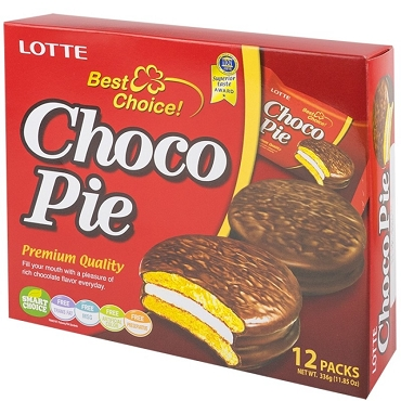 Lotte Choco Pie Chocolate snack pack 12 original individually wrapped pies