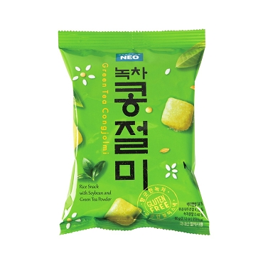 Neo Congjolmi Korean Rice Snack with Green tea Powder 60g