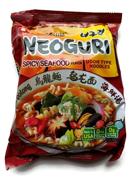 Nongshim Neoguri Japan Style Spicy Seafood Flavor Udon Type Noodle