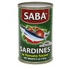 SABA Sardines in Canned Tomato Sauce No preservatives  5 oz.