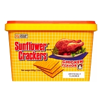 Croley Foods SunFlower Filipino Crackers with Chicken Flavor in 28.3 oz  Tub