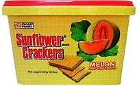 Croley Foods SunFlower Filipino Crackers with Melon Flavor in 28.3 oz Tub