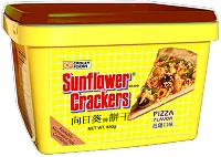 Croley Foods SunFlower Filipino Crackers with Pizza Flavor in 28.3 oz Tub