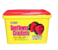 Croley Foods SunFlower Filipino Crackers with Strawberry Flavor in 28.3 oz Tub